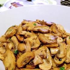 油煎口蘑的做法