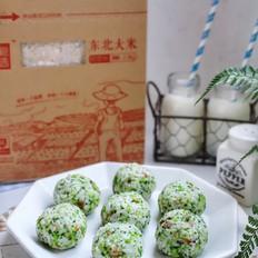 西兰花胚芽米饭团