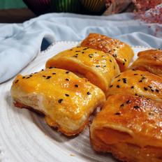 手抓饼烤番薯