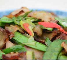 羌山老腊肉炒豌豆片