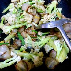 羌山老腊肉炒花菜