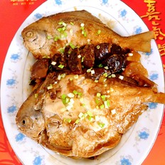 香菇土豆烧平鱼