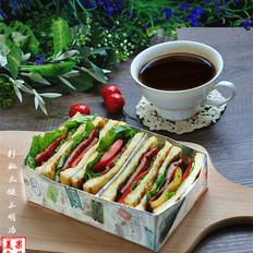 彩椒火腿三明治