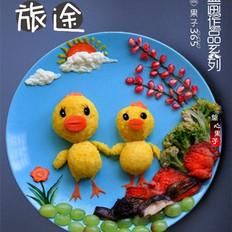 栀子花米饭趣味餐