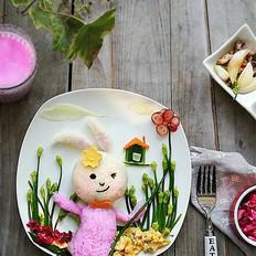 兔子趣味早餐