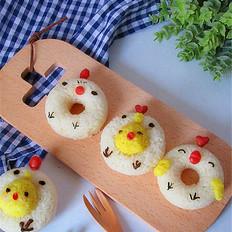 甜甜圈巧做小鸡米饭团
