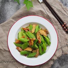 芹菜炒河蚌