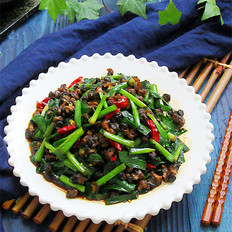 螺蛳肉炒韭菜