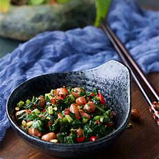 腌小咸菜韭菜花生的做法