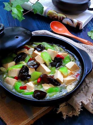 丝瓜炖豆腐的做法