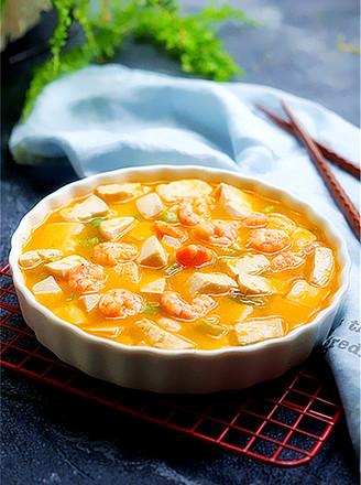 咸蛋黄虾仁豆腐的做法