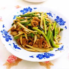 杏鲍菇炒蒜苔