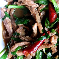 韭菜炒牛肉