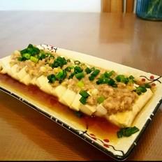 肉沫蒸白豆腐