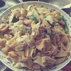 千张豆腐泡炒肉丝