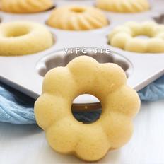 海绵分蛋法黑豆浆甜甜圈蛋糕
