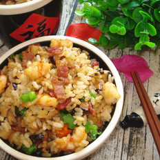 培根虾仁焖饭