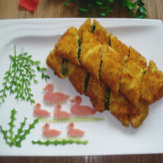 蛋酱菠菜卷