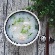 菠菜虾仁粥的做法
