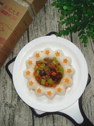 川香牛肉粒饭的做法