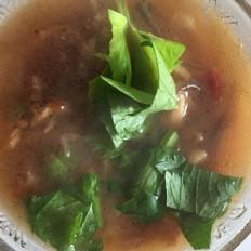 榨菜肉末粉条汤