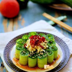 """好吃又好看的""""网红""""响油黄瓜卷"""