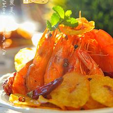 香辣薯片虾