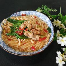 香辣蛤蜊蔬菜面