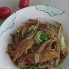 鸡脯肉炒白菜