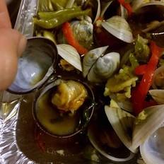 烤蛤蜊 & 龙骨面