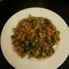蔬菜丁炒肉