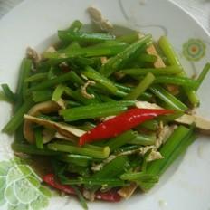 芹菜豆干炒肉丝