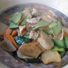 杏鲍菇黄瓜炒肉