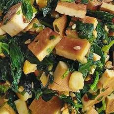 芹菜叶拌豆腐干