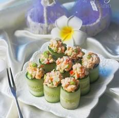 鲜虾芦笋黄瓜寿司卷