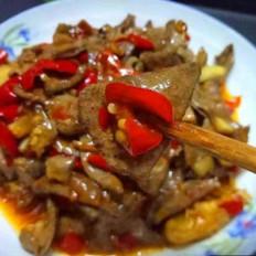 酸萝卜泡椒炒猪肝