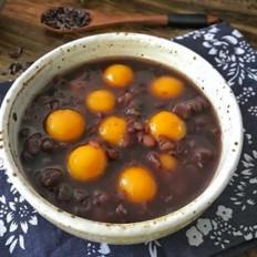 紫米红豆南瓜圆子粥