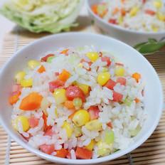 芹菜玉米炒饭