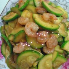 角瓜炒虾仁