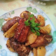 烤排骨土豆