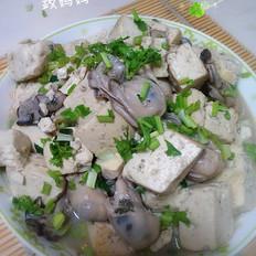 豆腐炖海蛎肉