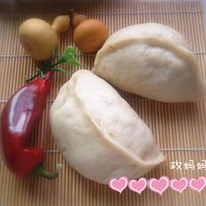 槐花蛤蜊肉包