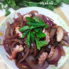 洋葱炒章鱼