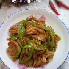 尖椒炒豆结