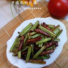叉烧肉炒芹菜