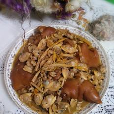 猪蹄蛤蜊炖黄花