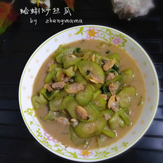 蛤蜊炒丝瓜