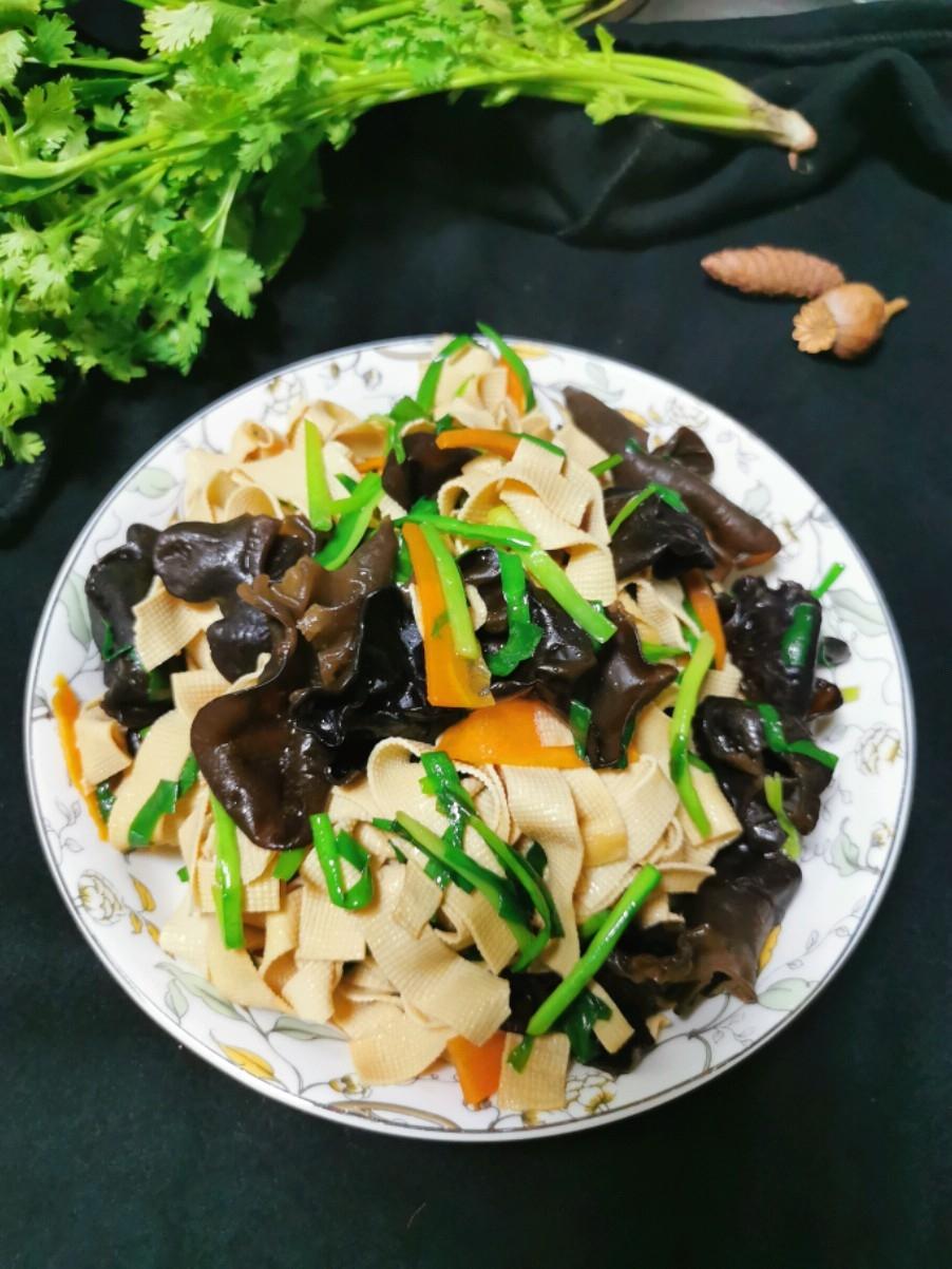 木耳炒豆腐皮
