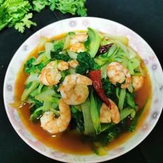 小白菜烧虾仁