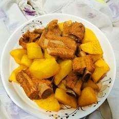 烧排骨土豆